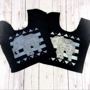 Elephant Crop Top - Bundle of 2 - NWT